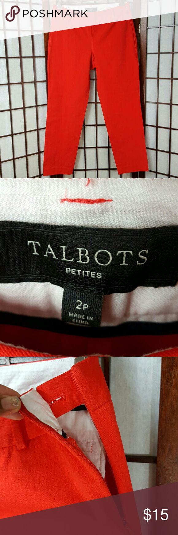 Orange TALBOTS Stretch Ankle Pants Petite 2P Preowned,  excellent condition  TALBOTS petite 2p Orange stretch Ankle pants Talbots Pants