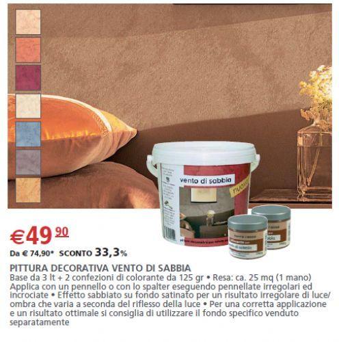 Pittura vento di sabbia decorativa 3 l 2 confezioni di for Vento di sabbia colori