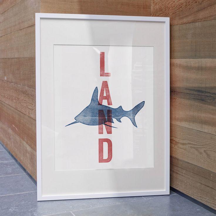 Ole Miss Land Shark Art Print / U of Mississippi / Ole Miss Football by GusAndCleo on Etsy https://www.etsy.com/listing/210922296/ole-miss-land-shark-art-print-u-of