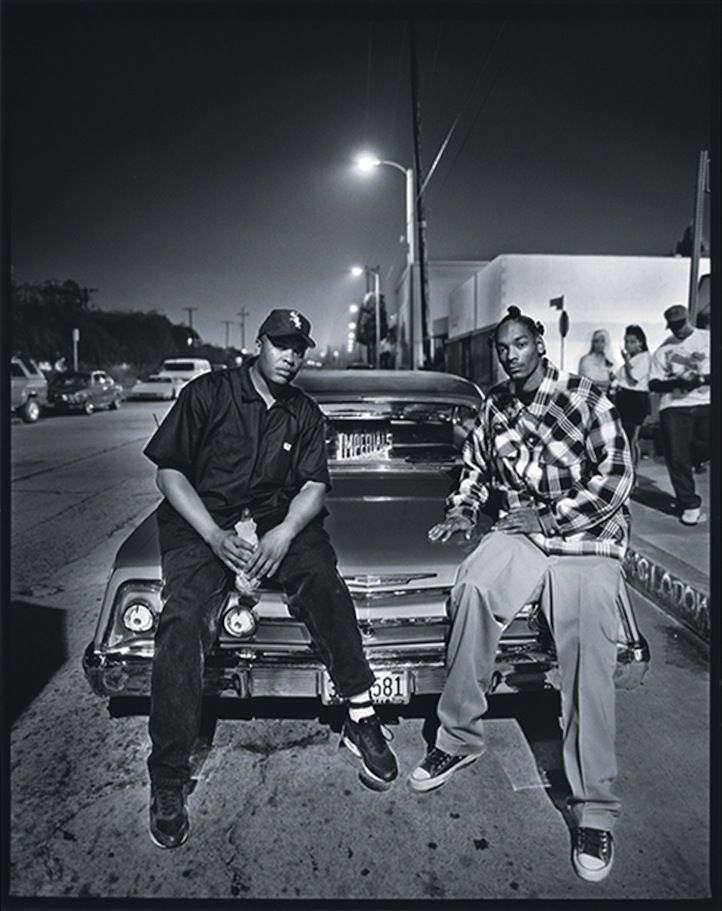 Dr.-Dre-and-Snoop-Dogg,-Los-Angeles,-California,-1993