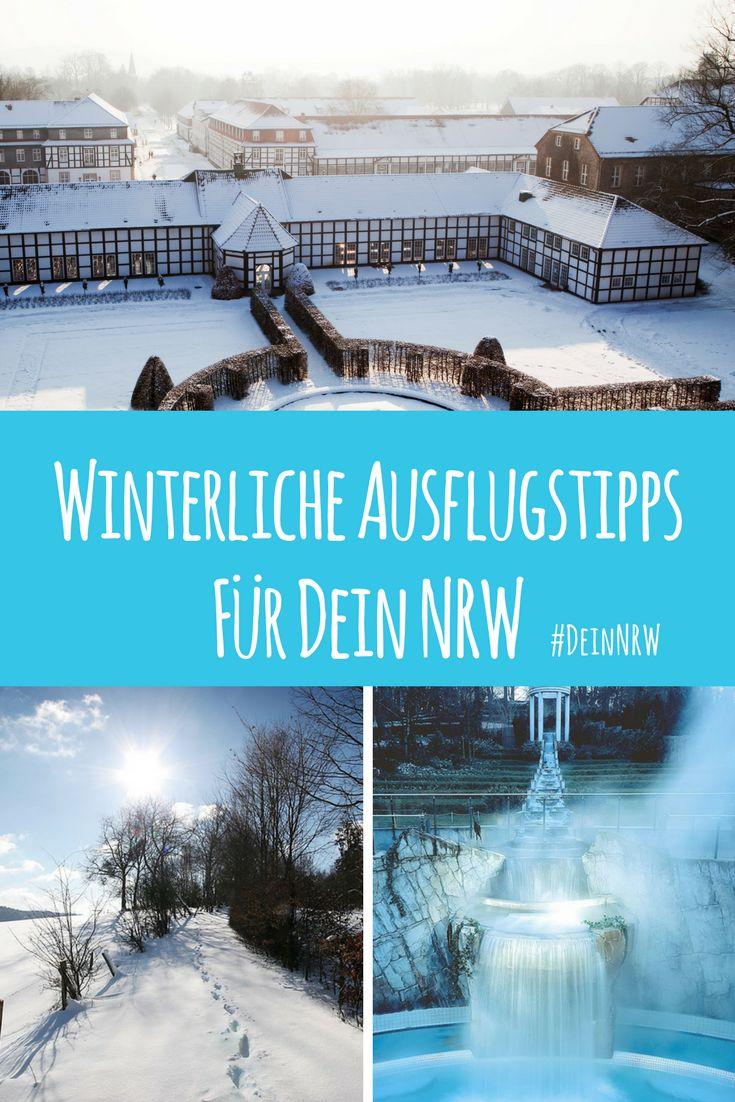 Im Winter gibt es so viel zu entdecken in Deinem NRW. Komm mit auf eine Reise in märchenhafte Landschaften und wärmende Thermen. Hier findest du unsere winterlichen Ausflugstipps für Deine Ausflüge im Winter in Deinem NRW. #deinnrw © Gräflicher Park ;Eifel Tourismus GmbH, Janssen und De Kievith; Carolus Therme Aachen