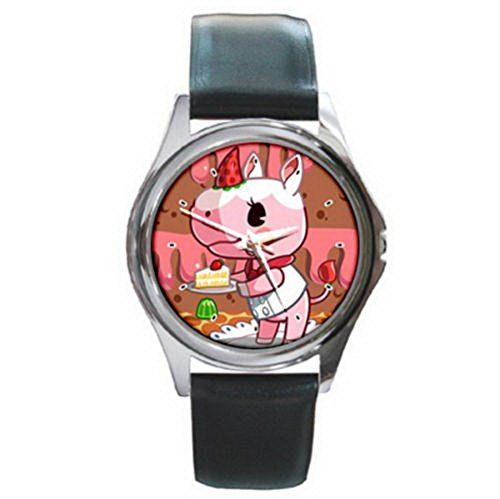 DIA088 hungry hippo love sweats leather wrist watch *** Check out the watch by visiting the link.