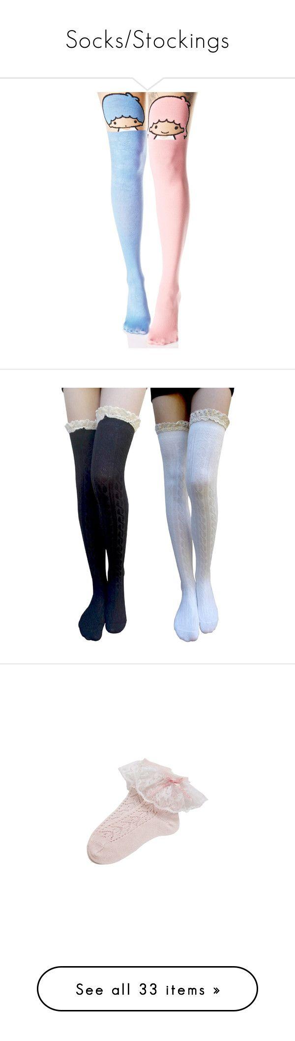 """""""Socks/Stockings"""" by animekitten101 ❤ liked on Polyvore featuring intimates, hosiery, tights, socks, leg avenue stockings, sheer tights, leg avenue pantyhose, leg avenue tights, transparent tights and socks/leggings"""
