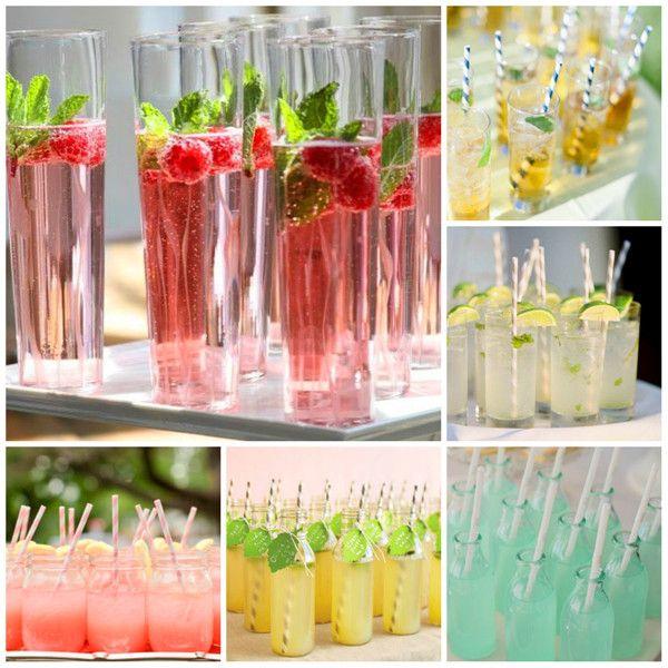 Drinks zur Hochzeit #wedding #fruitdrinks #Sektempfang