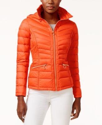 MICHAEL KORS Michael Michael Kors Packable Down Puffer Coat. #michaelkors #cloth # jackets