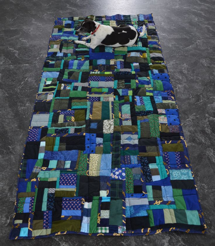 Cotton blanket made out of scraps  crazy patchwork