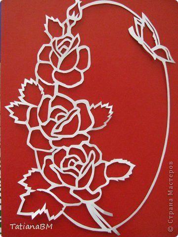 Trois roses.