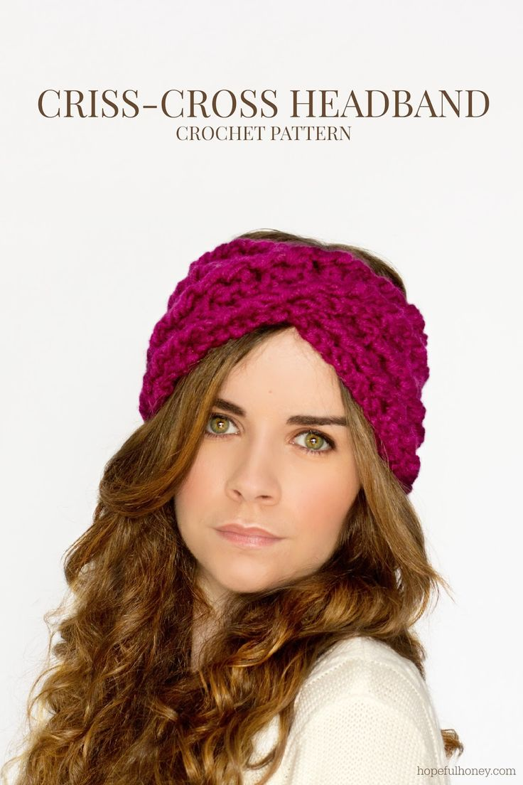 Chunky Criss-Cross Headband Crochet Pattern via Hopeful Honey