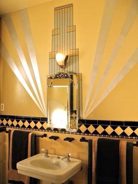 72 Best Art Deco Bathrooms Images On Pinterest Bathrooms
