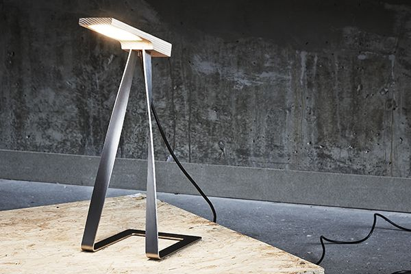 LS1 is a desk lamp, which is constructed of stainless steel, ash wood and a LED light source.The design is inspired by the works of the Danish designer, Poul Kjærholm.              www.DesignbySortkjaer.com