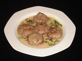 Greek Meatballs In Avgolemono Sauce (Keftedes me Avgolemono) Recipe