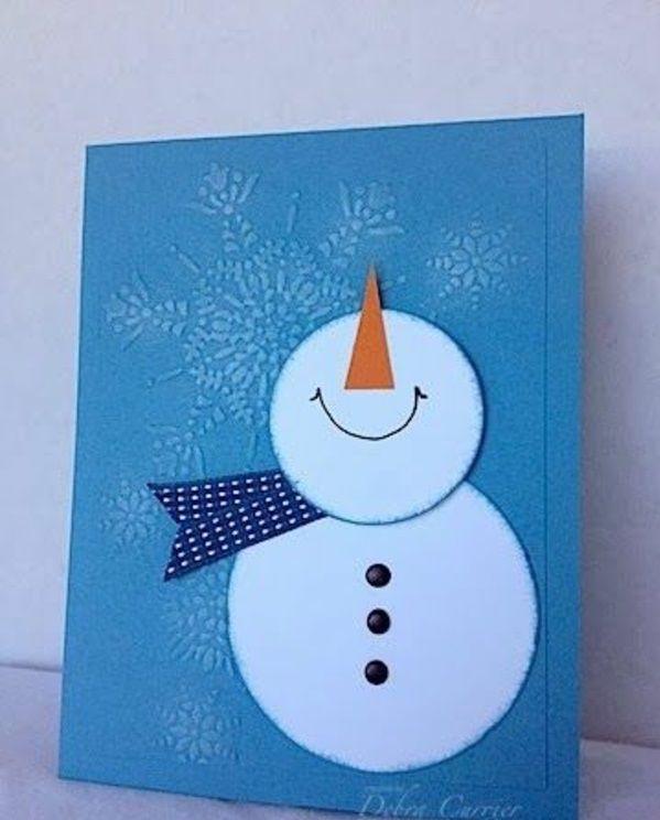 Открытки со снеговиком своими руками