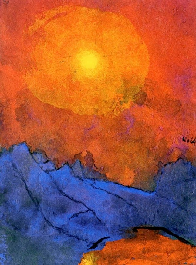 Sunset over Blue Mountains - Emil Nolde