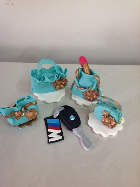 BMW and bags gumpaste by Naazneen