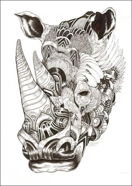 Rhino Iain Macarthur Art Pinterest Rhinos