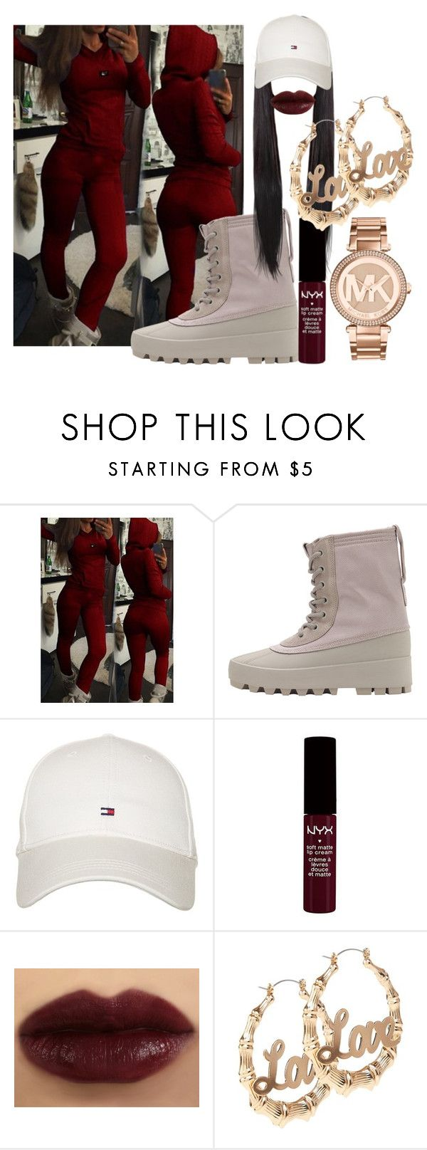 """Hip Hop Honors 2016😍♥"" by beautyqueen-927 ❤ liked on Polyvore featuring adidas Originals, Tommy Hilfiger and Michael Kors"