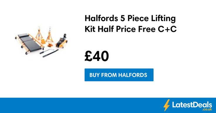 Halfords 5 Piece Lifting Kit Half Price Free C+C, £40