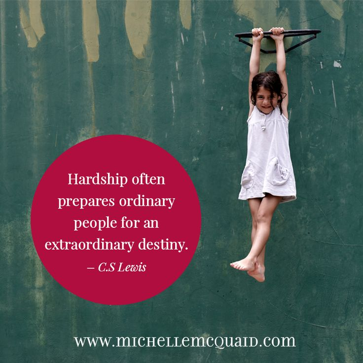 Hardship often prepares ordinary people for an extraordinary destiny. - C.S. Lewis #strengths #quote #perseverance