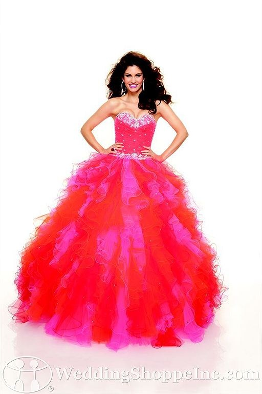 Paparazzi by Mori Lee Prom Dress 93021 #red #pink #promdresses #ballgown