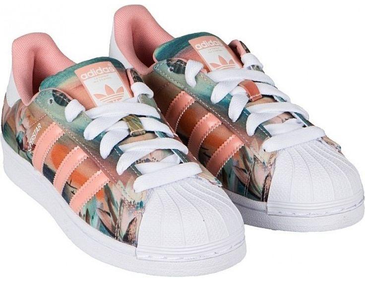 Adidas Originals Superstar x Farm Print Womens Trainers Dust Pink/White/Pink  B35832 Superstar