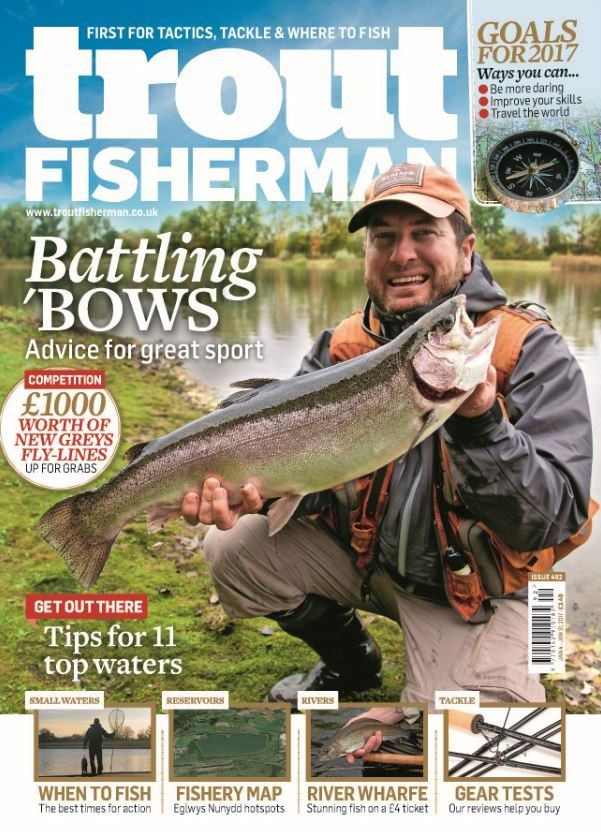 In this issue:    Competition: £1,000 worth of new greys fly-lines up for grabs    Battling 'Bows - advice for great sport    Get out there - tips for 11 top waters    Small waters - when to fish, the best times for action    Reservoirs - fishery map, Eglwys Nunydd hotspots    River Wharfe - stunning fish on a £4 ticket    Tackle gear tests - our reviews help you buy    Goals for 2017. Ways you can:<del></del>  <ul>   <li>be more daring</li>   <li>improve your skills</li>   <li>travel the…