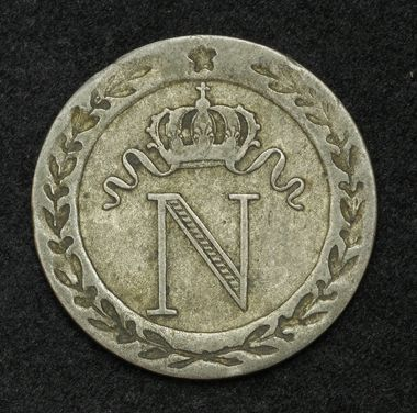Coins of France 10 Centimes Napoleon Bonaparte Coin, 1808