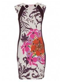 Floral Bodyon Dress Multi-colour