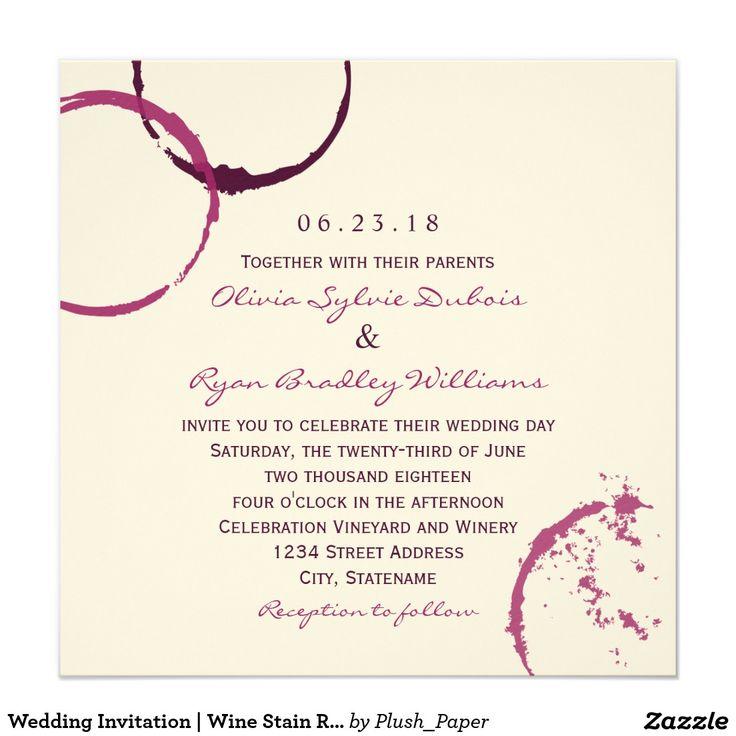 Wedding Invitation | Burgundy Wine Stain Rings