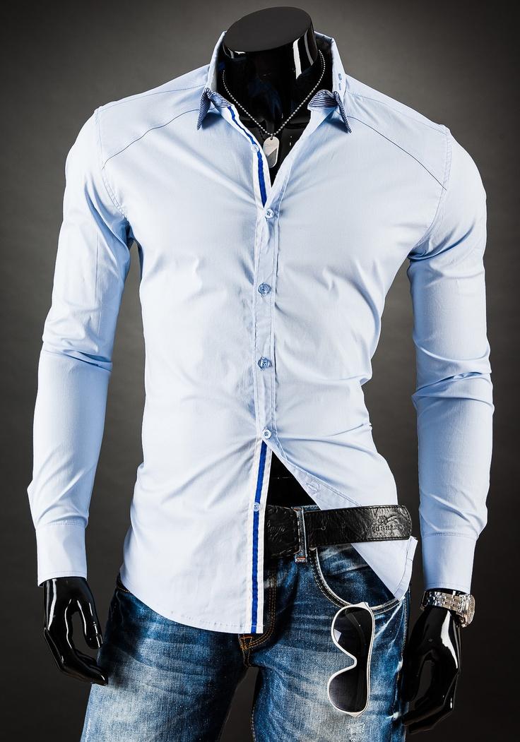LT 4111 - NIEBIESKI   Odzież Dla Niego \ Koszule męskie \ Koszule długi rękaw Kolekcja Męska   Denley - Odzieżowy Sklep internetowy   Odzież   Ubrania   Płaszcze   Kurtki