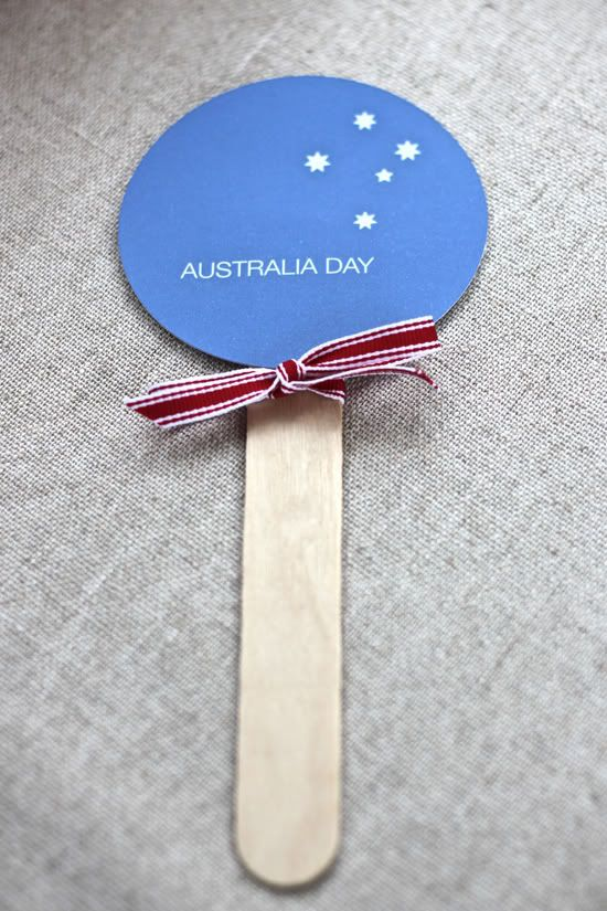 Australia Day printable fan