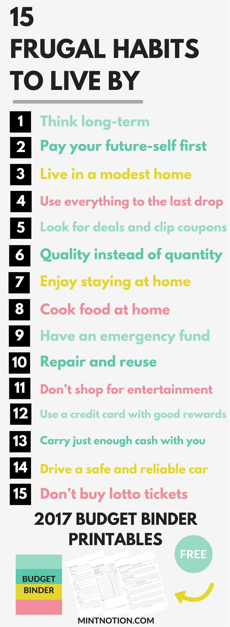 Frugal habits to help save money and live a happier life.
