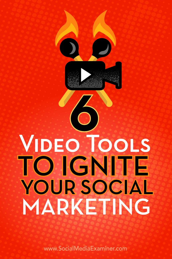 Do you want to bring more pop to your social media marketing? Here are 6 tips about video tools you can use to make your social media marketing pop.