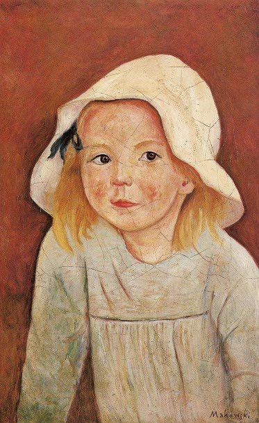 Girl In A White Hat Tadeusz Makowski, Polish 1882-1932