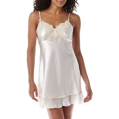 Intimo donatella chiffon ruffle chemise jcpenney for Corset bra for wedding dress