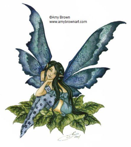 I think my favorite thing about Amy Brown fairies is the socks.