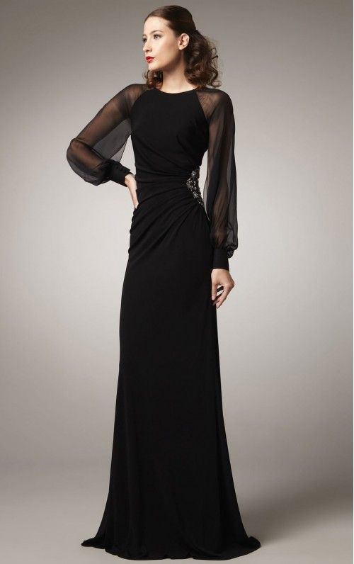 Hot Sale Sheath Floor-Length Evening Dresses
