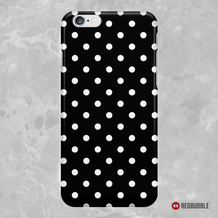 """SOLD iPhone 6s Case """"Polkadots Black and White"""" https://www.redbubble.com/people/medusa81/works/8975759-polkadots-black-and-white?asc=u #Redbubble #iPhone6s #Case #Cases #smartphone #electronic #accessories #Skins #Polkadots #pois #pattern #polka #dot #BlackWhite #monochrome"""