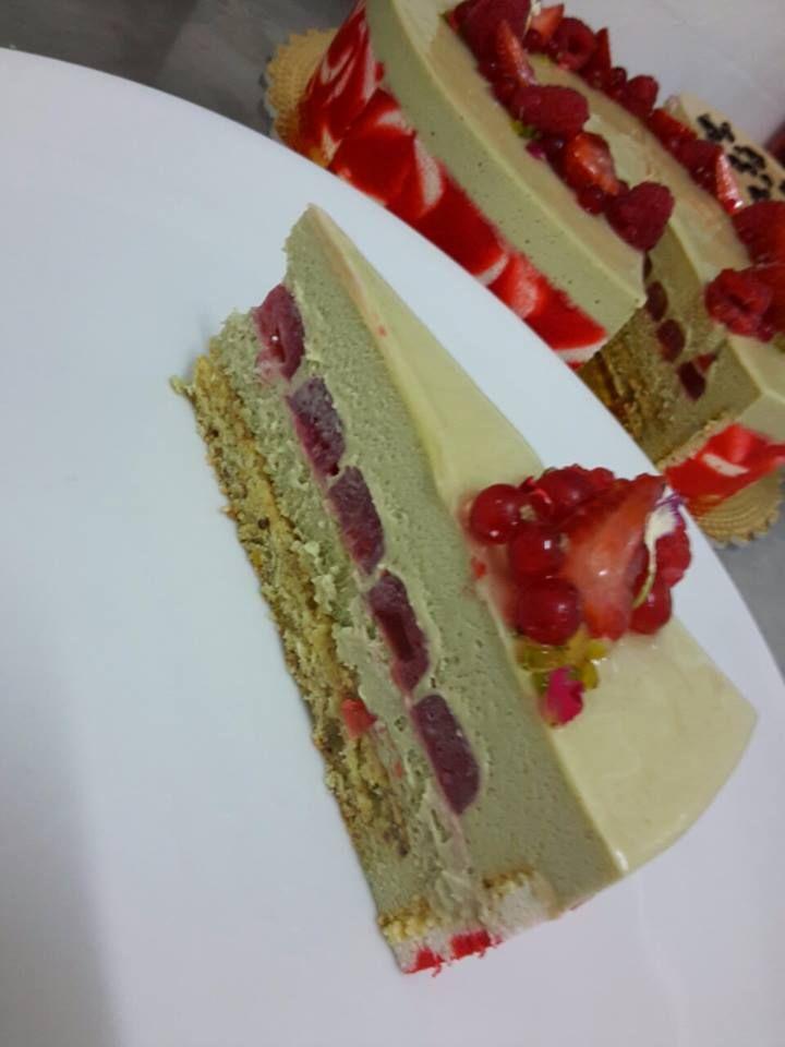 Ricetta dolce: Armonia pistacchio e lampone