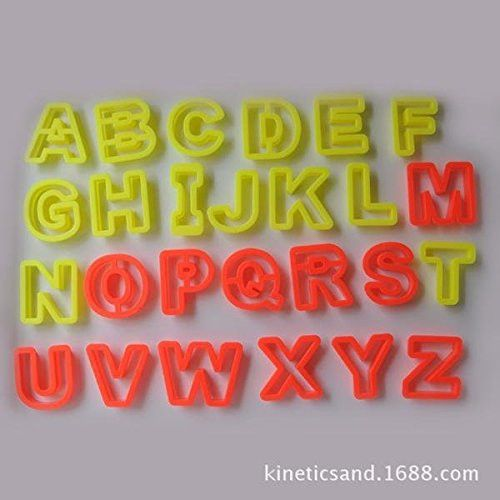 26 letters alphabet kinetic motion sand modeling mold tool toys