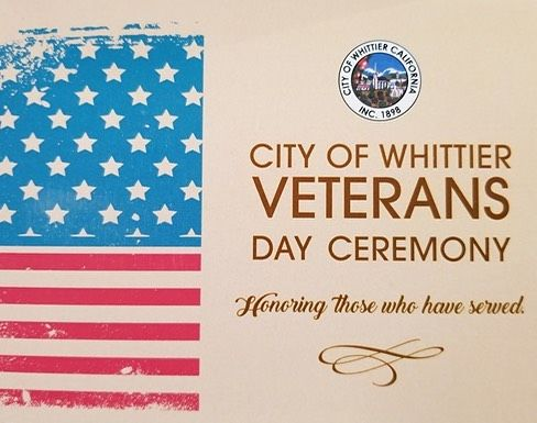 Mark your calendars for this local event: Saturday, November 11, 2017. 9:00 am - 13230 Penn St, Whittier.  The City of Whittier will be holding a Veterans Day Ceremony on the City Hall Front Lawn.  Bring the family out.  Honor all who have served in the UNITED STATES MILITARY! 🇺🇸 #wendyj4homes #realestate #whittier #realtor #glenbrook #realestateagent #socal #veteransday #local #event #saturday #localrealtors - posted by Wendy Jimenez https://www.instagram.com/wendyj4homes - See more Real…