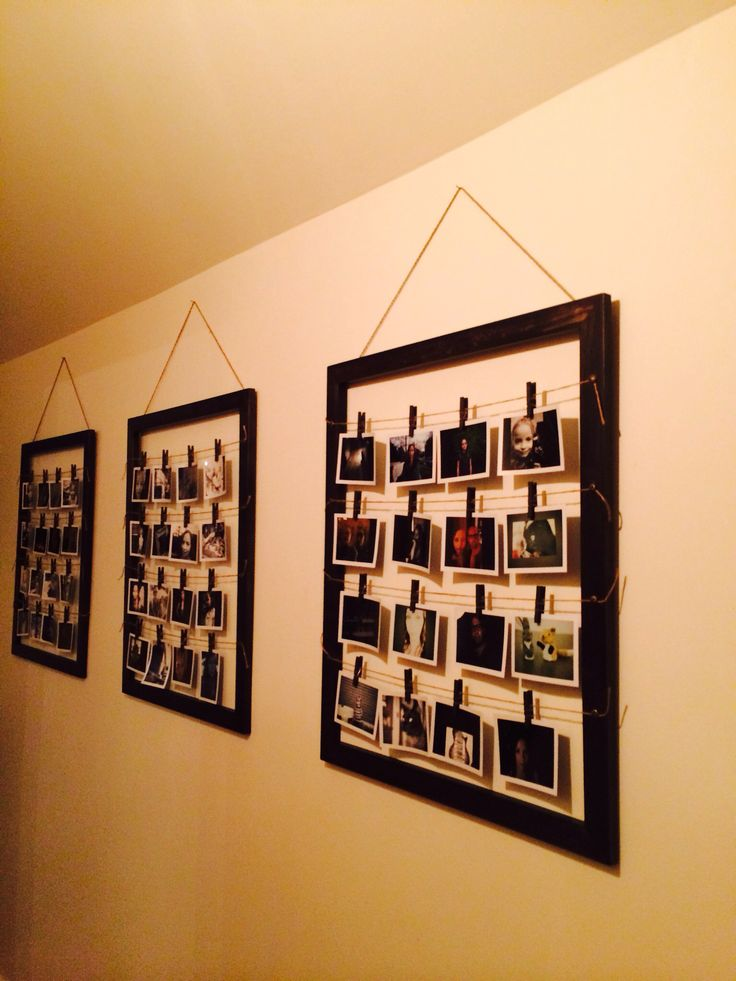 55 best polaroid wall collage images on pinterest diy for Collage mural ideas