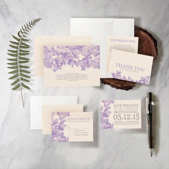 1186 besten Floral Wedding Invitations Bilder auf Pinterest ...