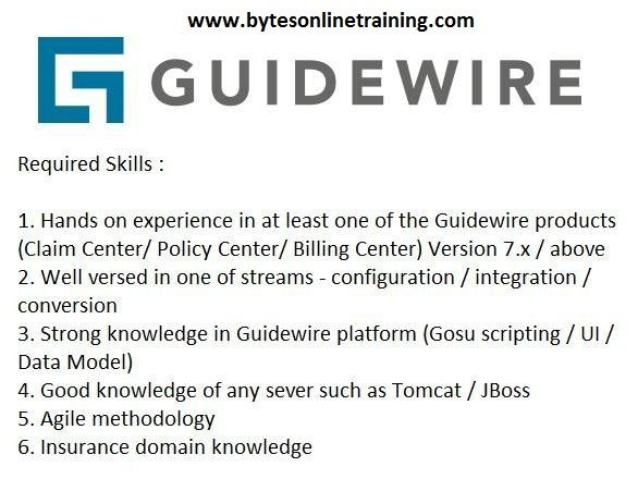 Are You Looking For Guidewire Online Training Bytes Online