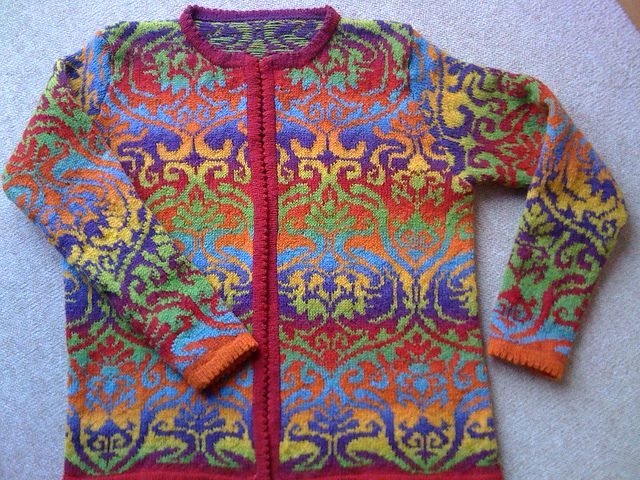 """Ravelry: Knitting chart """"baroque"""" pattern by Beate Zäch"""