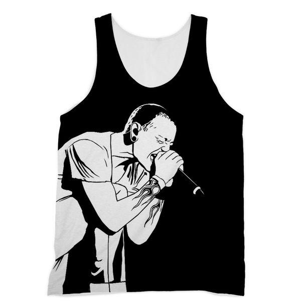 """""""R.I.P Chester Bennington"""" Sublimation Vest"""
