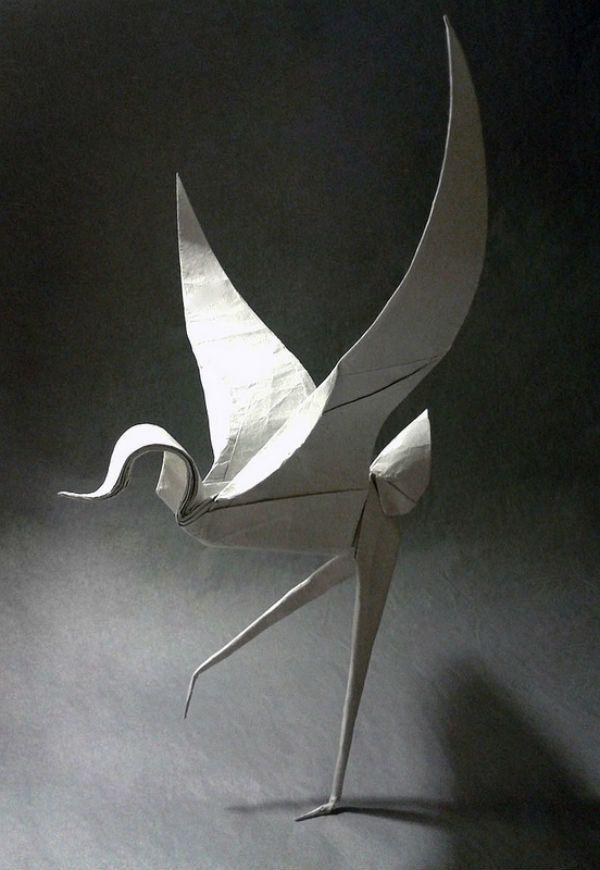 Птица из бумаги - оригами   Оригами, Птицы, Бумага