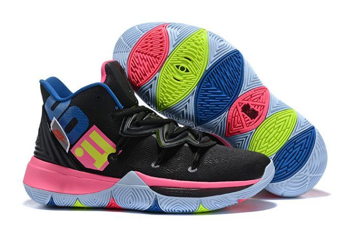 54257143e051 Nike Kyrie 5 Just Do It Black Pink Blue Shoes-4