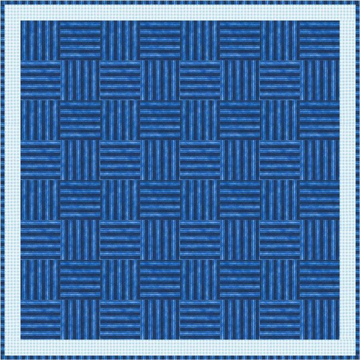 Easy Basket Weave Quilt Pattern : Quilt patterns don t get much easier than this mock basket