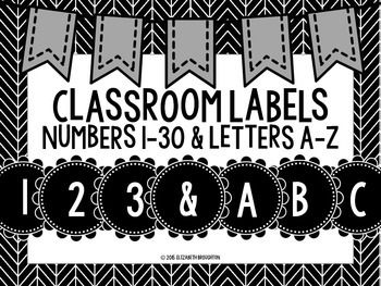 These labels are perfect for your classroom. Use them for labeling student cubbies, backpack hooks, book tubs, library tubs, word wall headers, and anything else you need organized and labeled. The classic black and white color scheme matches any classroom.
