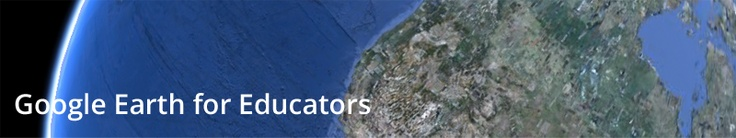 """Google Earth for Educators--a great place to go to enhance so many lessons--think """"Communities"""" to start :)"""